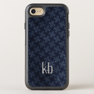 Coque Otterbox Symmetry Pour iPhone 7 Hommes géométriques bleu-foncé sales de motif