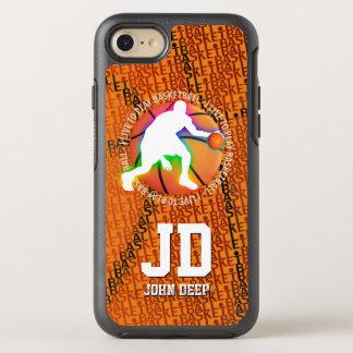 Coque Otterbox Symmetry Pour iPhone 7 Je vis pour jouer le sport du basket-ball |