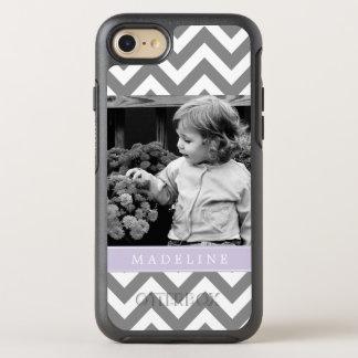 Coque Otterbox Symmetry Pour iPhone 7 La lavande Chevron barre le cadre de photo