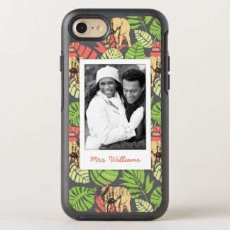 Coque Otterbox Symmetry Pour iPhone 7 Le feuille et les éléphants exotiques | ajoutent