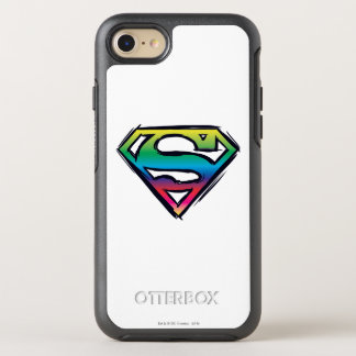 Coque Otterbox Symmetry Pour iPhone 7 Logo 2 d'arc-en-ciel du S-Bouclier | de Superman