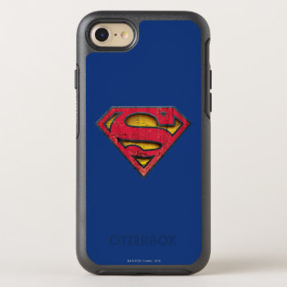 Coque Otterbox Symmetry Pour iPhone 7 Logo affligé par | de S-Bouclier de Superman