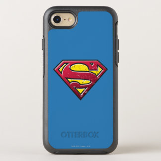 Coque Otterbox Symmetry Pour iPhone 7 Logo d'éraflures du S-Bouclier | de Superman