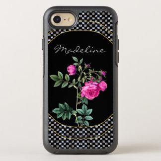 Coque Otterbox Symmetry Pour iPhone 7 Monogramme protecteur de rose de Madelines joli
