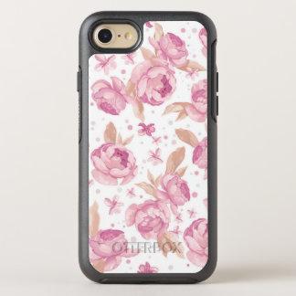 Coque Otterbox Symmetry Pour iPhone 7 Motif floral rose élégant