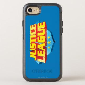 Coque Otterbox Symmetry Pour iPhone 7 Nom de ligue de justice et logo de bouclier