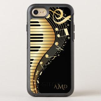 Coque Otterbox Symmetry Pour iPhone 7 Or et clés noires de musique