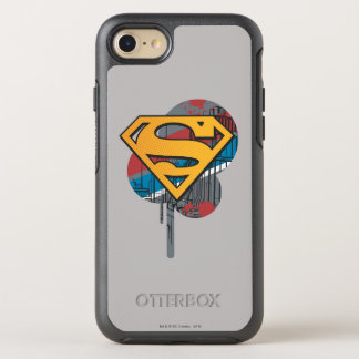 Coque Otterbox Symmetry Pour iPhone 7 Orange du S-Bouclier | de Superman avec la