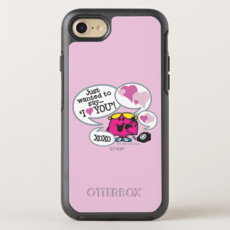 Coque Otterbox Symmetry Pour iPhone 7 Petite Mlle Chatterbox Says je t'aime