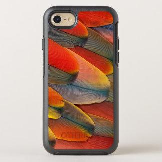 Coque Otterbox Symmetry Pour iPhone 7 Plan rapproché de plume d'ara d'écarlate