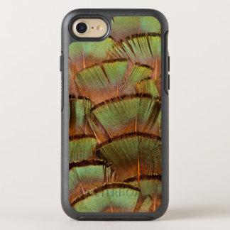Coque Otterbox Symmetry Pour iPhone 7 Plume de faisan éventée par vert