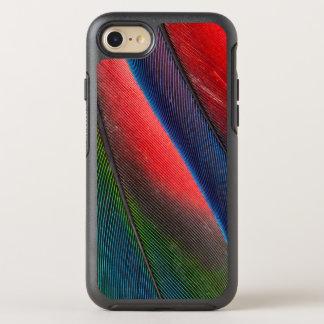 Coque Otterbox Symmetry Pour iPhone 7 plumes Bleu-dirigées de Pionus