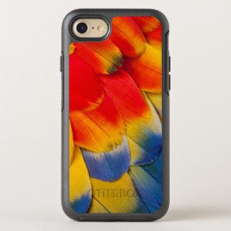 Coque Otterbox Symmetry Pour iPhone 7 Plumes de couvert d'ara d'écarlate