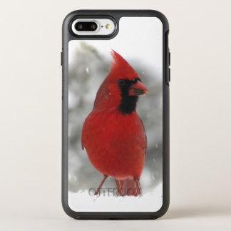 Coque Otterbox Symmetry Pour iPhone 7 Plus Animal cardinal rouge d'oiseau
