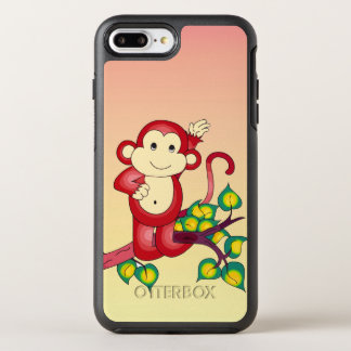 Coque Otterbox Symmetry Pour iPhone 7 Plus Animal rouge mignon de singe