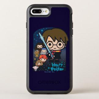 Coque Otterbox Symmetry Pour iPhone 7 Plus Chambre de Harry Potter de bande dessinée des