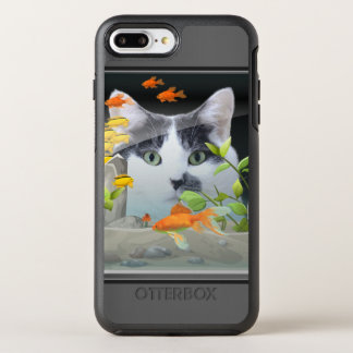 Coque Otterbox Symmetry Pour iPhone 7 Plus Chat scrutant dans l'aquarium