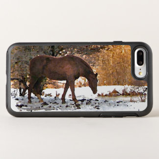 Coque Otterbox Symmetry Pour iPhone 7 Plus Cheval de Brown chez l'animal d'hiver