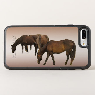 Coque Otterbox Symmetry Pour iPhone 7 Plus Chevaux de Brown animaux