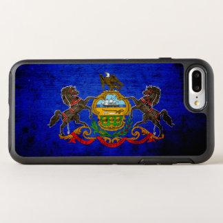Coque Otterbox Symmetry Pour iPhone 7 Plus Drapeau grunge noir d'état de la Pennsylvanie