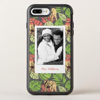 Coque Otterbox Symmetry Pour iPhone 7 Plus Le feuille et les éléphants exotiques   ajoutent