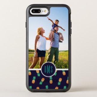 Coque Otterbox Symmetry Pour iPhone 7 Plus Les ananas sur Navy| ajoutent votre photo et