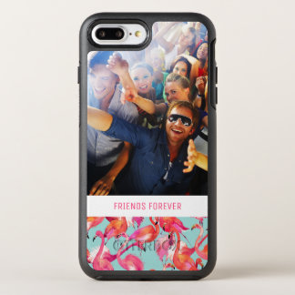 Coque Otterbox Symmetry Pour iPhone 7 Plus Les flamants d'aquarelle   ajoutent votre photo et