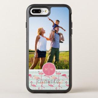 Coque Otterbox Symmetry Pour iPhone 7 Plus Les flamants sur Stripes| ajoutent votre photo et