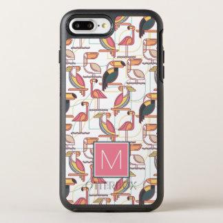 Coque Otterbox Symmetry Pour iPhone 7 Plus Modelez avec les oiseaux tropicaux que | ajoutent