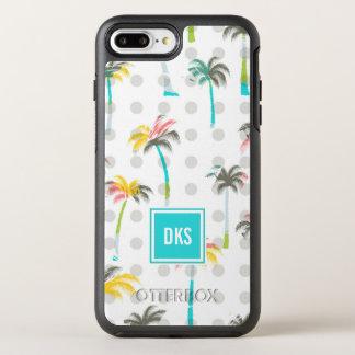Coque Otterbox Symmetry Pour iPhone 7 Plus Monogramme des palmiers | d'aquarelle