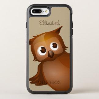 Coque Otterbox Symmetry Pour iPhone 7 Plus Monogramme drôle nommé fait sur commande mignon