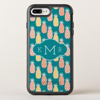 Coque Otterbox Symmetry Pour iPhone 7 Plus Monogramme du motif | de griffonnage d'ananas