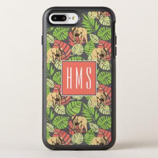 Coque Otterbox Symmetry Pour iPhone 7 Plus Monogramme exotique de feuille et d'éléphants | de