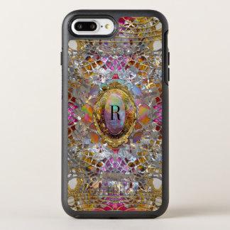 Coque Otterbox Symmetry Pour iPhone 7 Plus Monogramme protecteur de kaléidoscope frais de