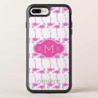 Coque Otterbox Symmetry Pour iPhone 7 Plus Monogramme rose du motif | de flamant
