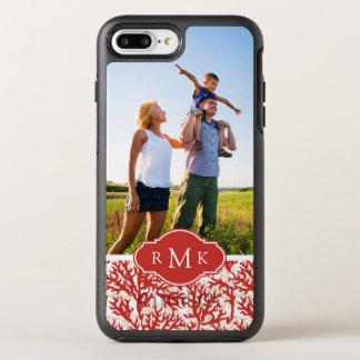 Coque Otterbox Symmetry Pour iPhone 7 Plus Motif | de corail rouge votre photo et monogramme