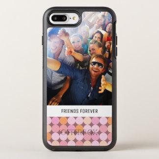 Coque Otterbox Symmetry Pour iPhone 7 Plus Pois rose et orange de photo et de textes