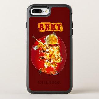 Coque Otterbox Symmetry Pour iPhone 7 Plus style de bande dessinée de soldat d'aigle d'armée
