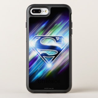 Coque Otterbox Symmetry Pour iPhone 7 Plus Superman a stylisé le logo brillant d'éclat de