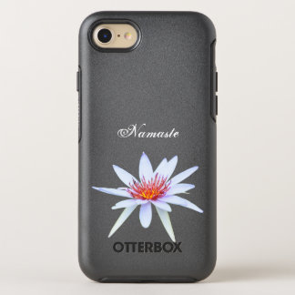 Coque Otterbox Symmetry Pour iPhone 7 Pureté blanche de Namaste de fleur de Lotus de