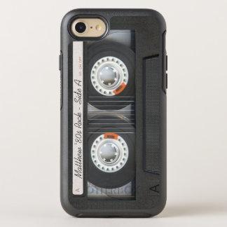 Coque Otterbox Symmetry Pour iPhone 7 Regard drôle de rétro de musique de cassette bande