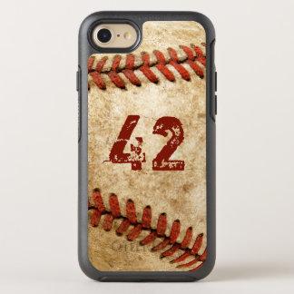 Coque Otterbox Symmetry Pour iPhone 7 Regard grunge de base-ball vintage avec votre