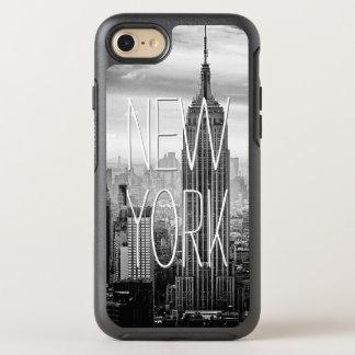 Coque Otterbox Symmetry Pour iPhone 7 Rétro paysage blanc noir de gratte-ciel de New