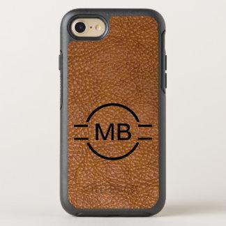 Coque Otterbox Symmetry Pour iPhone 7 Style simili cuir de monogramme