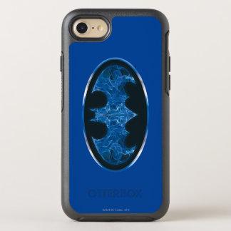 Coque Otterbox Symmetry Pour iPhone 7 Symbole bleu de batte de fumée