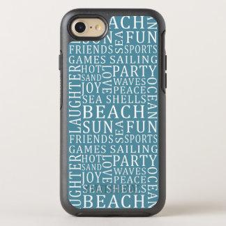 Coque Otterbox Symmetry Pour iPhone 7 Téléphone de Chambre de plage de couleur
