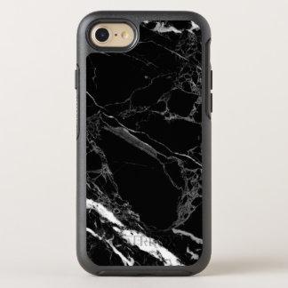 Coque Otterbox Symmetry Pour iPhone 7 Texture de marbre noire en pierre chique