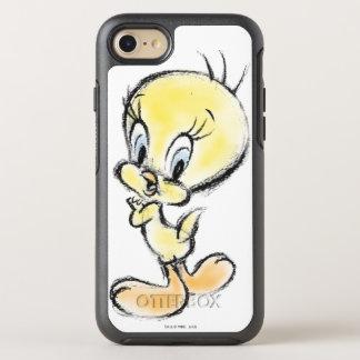 Coque Otterbox Symmetry Pour iPhone 7 Tweety - main faite