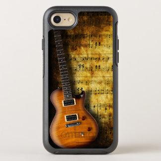 Coque Otterbox Symmetry Pour iPhone 7 Vieille guitare de feuille de musique
