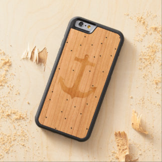 Coque Pare-chocs En Cerisier iPhone 6 caisse en bois de cerise de butoir de l'iPhone